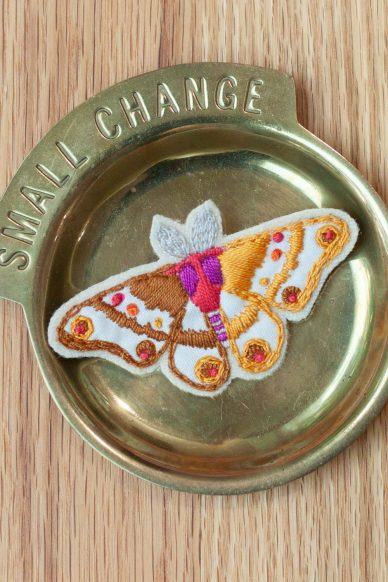 embroidered brooch kit october stitch club journal