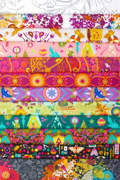 october stitch club journal feature fabric bundle