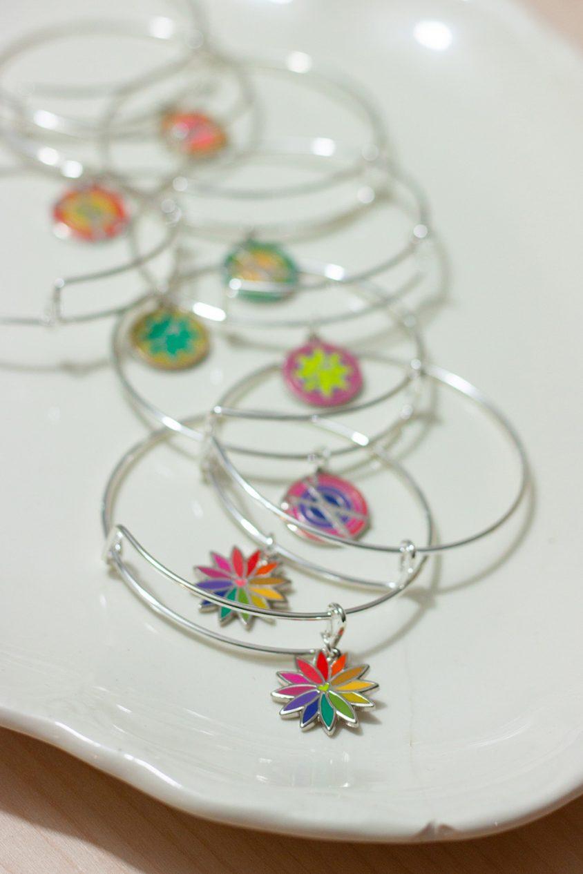 enamel charm bracelets
