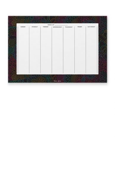 rainbow stitched calendar notepad