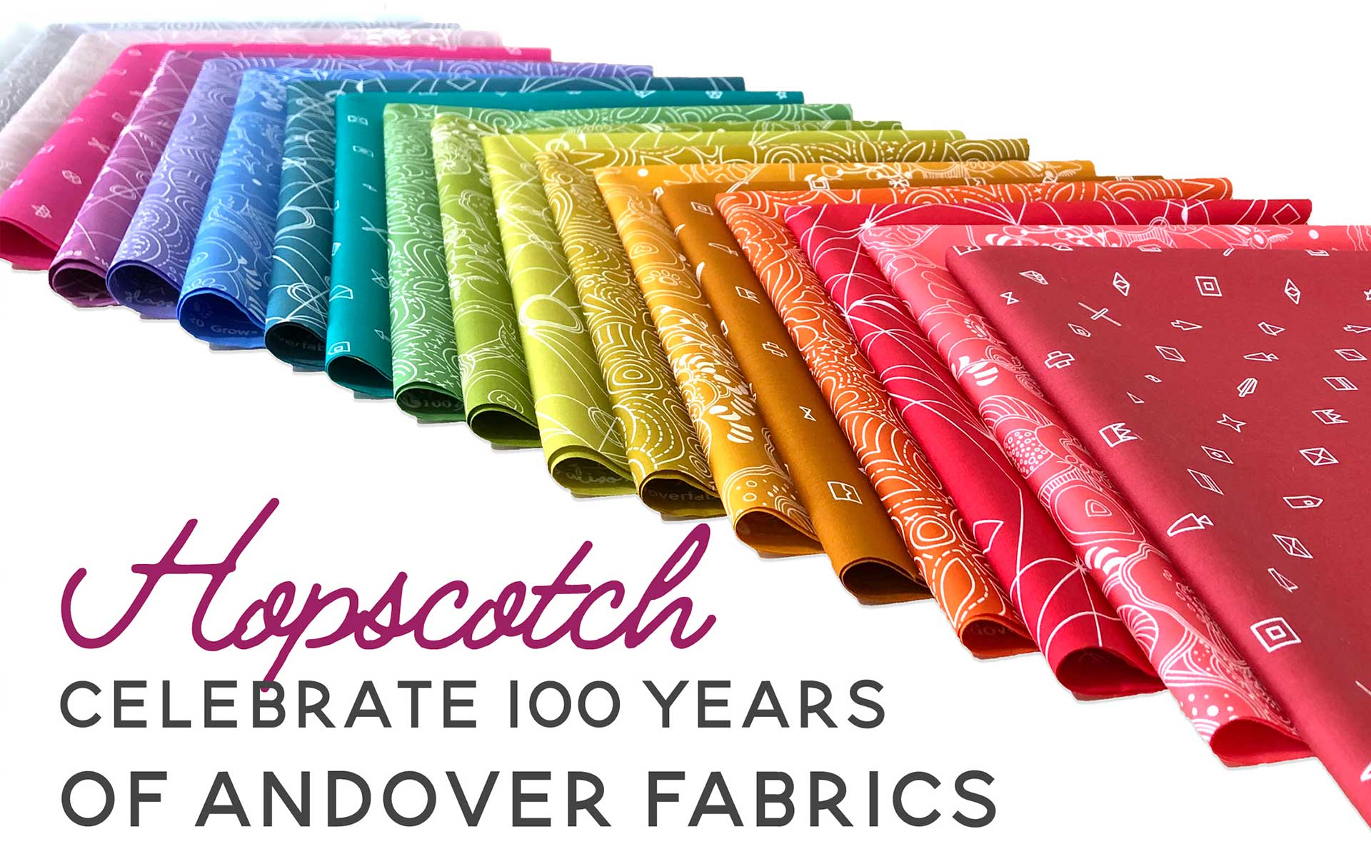 celebrate 100 years of andover fabrics with alison glass' hopscotch