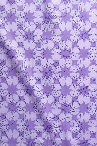 sun print luminance flourish in lavender yardage