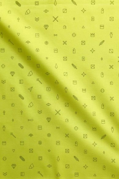 sun print luminance trinket in citron yardage
